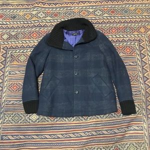 A.P.C. Wool jacket size purple and blue 38